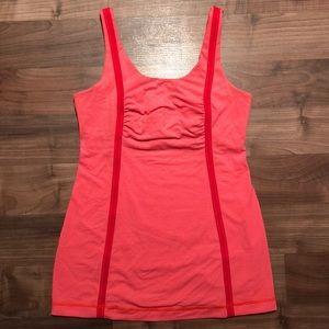 Lululemon Whole Hearted Tank Top 6 Neon Orange